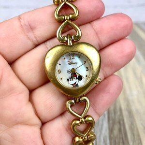 Vintage Disney Minnie Mouse Women's Gold Watch